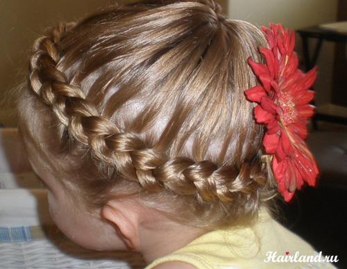 Прически на длинные волосы фото для девочек с косичками корзиночка