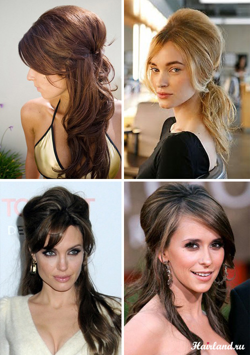 Прически с начесом для длинных волос