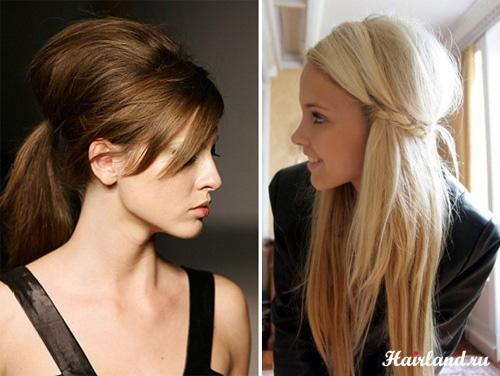 Прическа на прямых длинных волосах