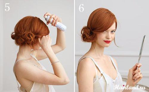 Прическа для средней длины волос своими руками