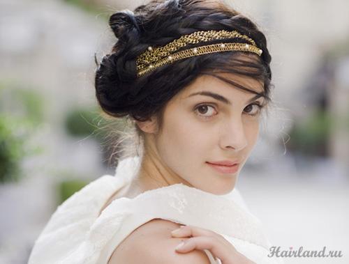 Прически в греческом стиле с хайратником на выпускной