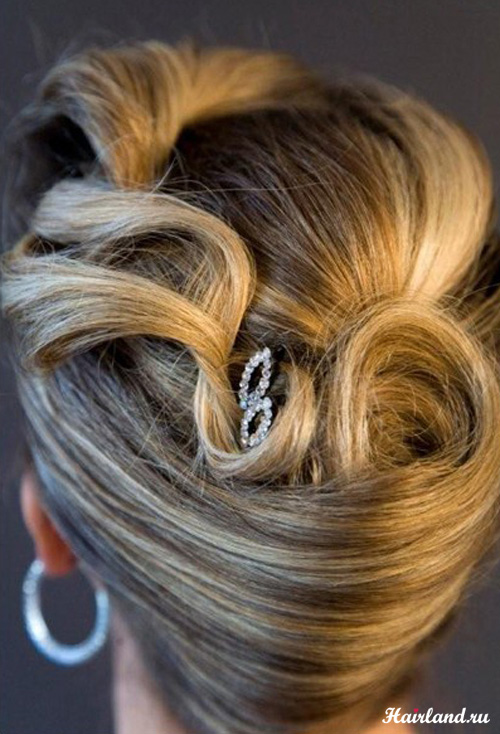 Прически вечерние фото на средние волосы