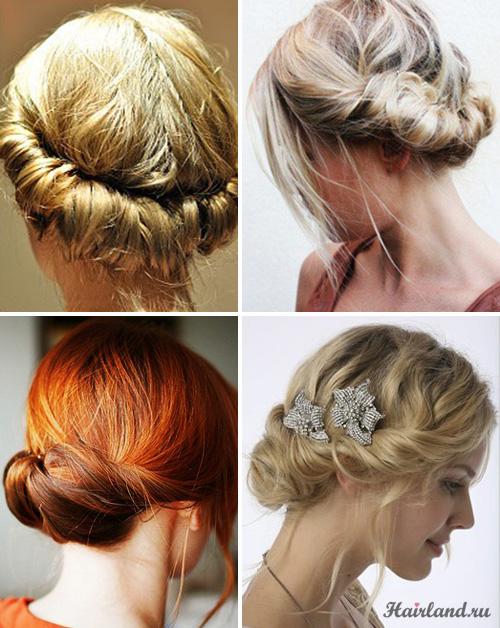 Винтажные прически на средние волосы