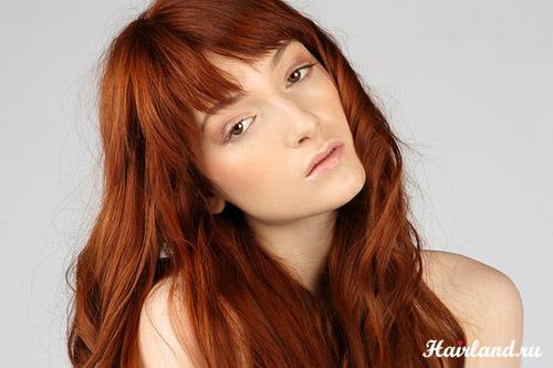 Рыжие волосы карие глаза