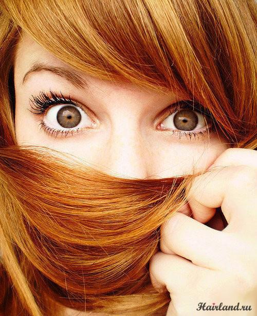 Рыжие девушки с карими глазами
