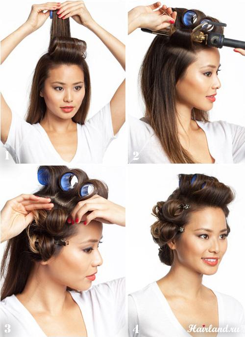 Укладка средних волос в домашних условиях пошаговая 570