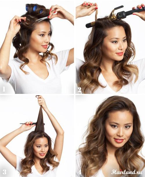 Как сделать укладку длинных волос в домашних условиях