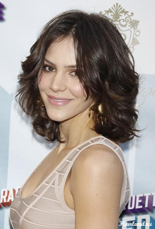 Укладка волос средней длины фото