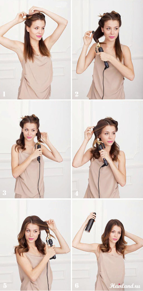 Укладка на волосы своими руками в домашних условиях фото