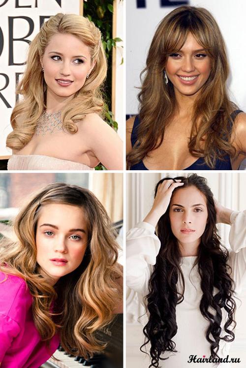 прически и укладки на длинные волосы - каталог стрижек и причесок 2013 года.