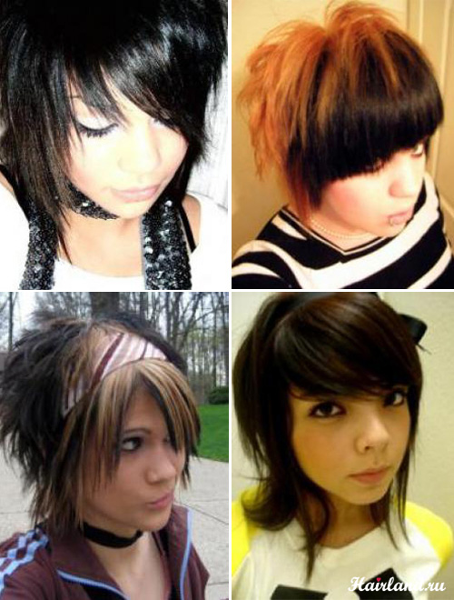 Эмо прически для девочек короткие волосы фото