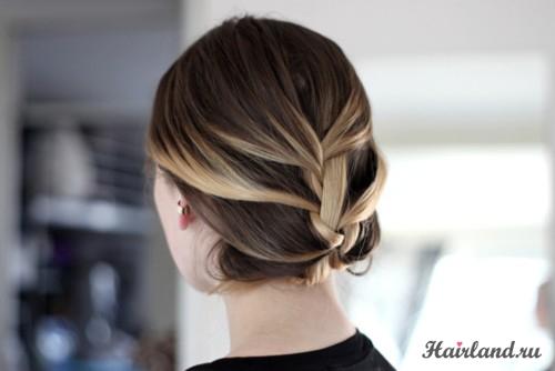 Повседневные прически для средних волос