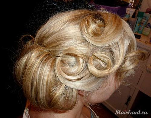 Прически с завитками для волос средней длины фото на выпускной