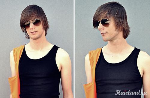 Прически мужские для волос средней длины