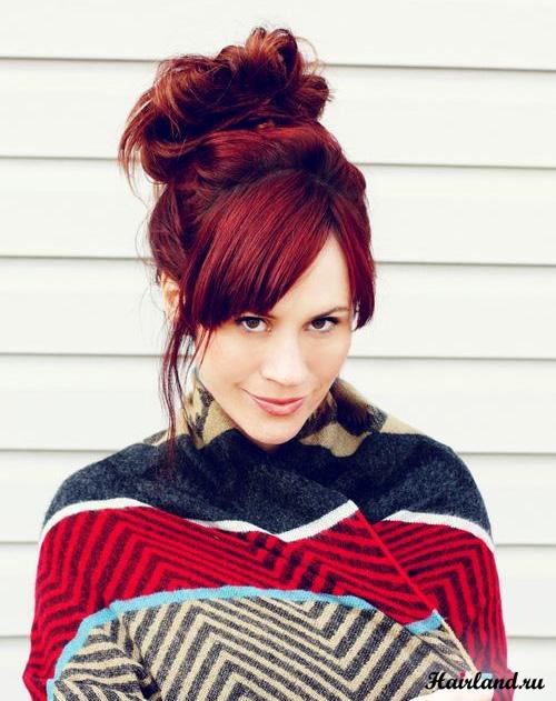 Рыжий цвет волос оттенки фото Красный