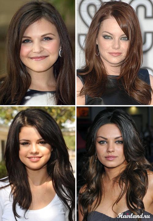 Длинные стрижки для круглого лица и тонких волос фото