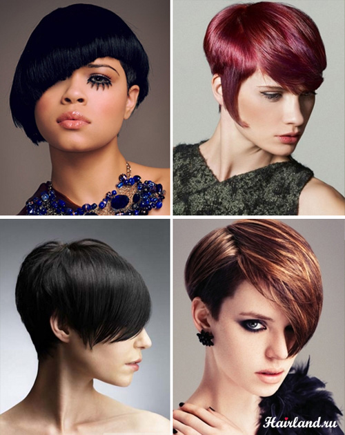 Асимметричные стрижки фото на короткие волосы