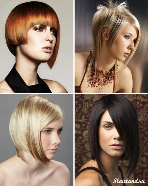 Асимметричные стрижки фото на средние волосы
