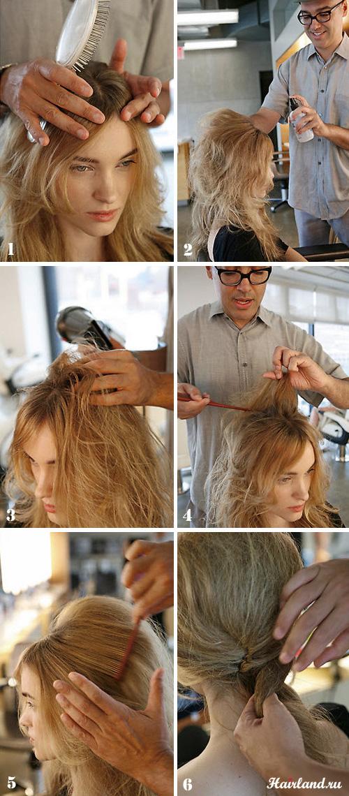 Причёска бабетта своими руками 112