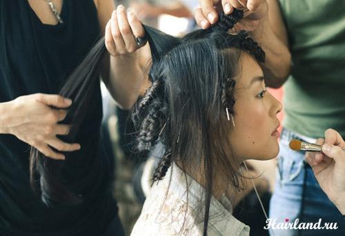 Как завить волосы на шпильки своими руками фото