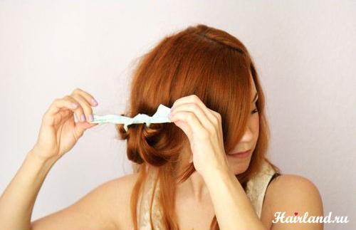 Как завить волосы на тряпочки фото и как делать