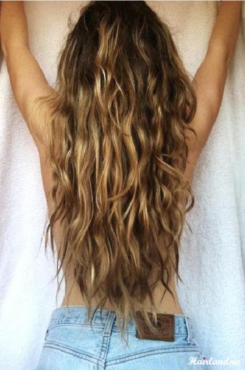Калифорнийское мелирование на темных волосах