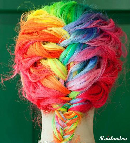 Колорирование волос фото 2012 радуга