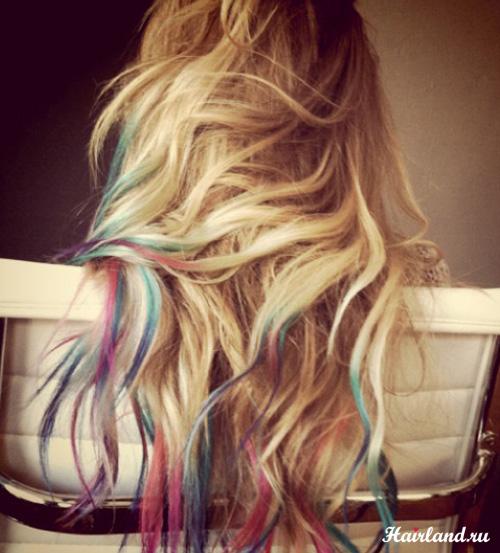 Колорирование кончиков волос фото 2012