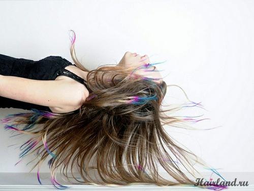 Колорирование концов волос фото 2012