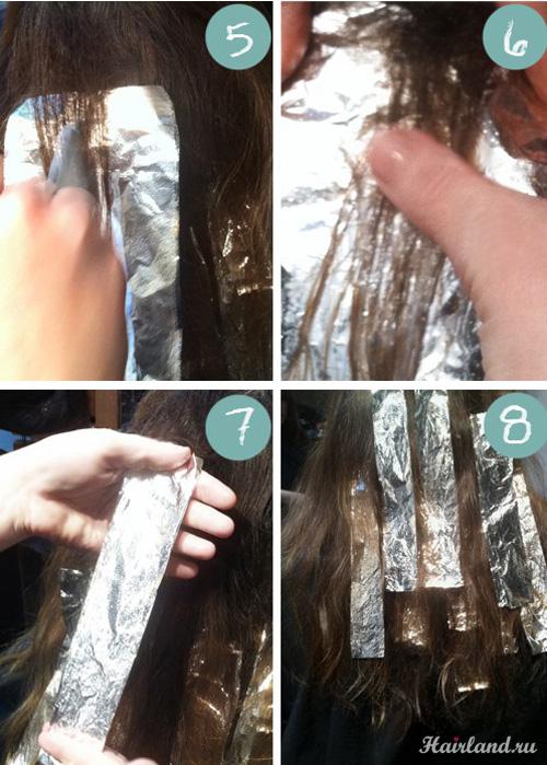 Как сделать мелирование своими руками