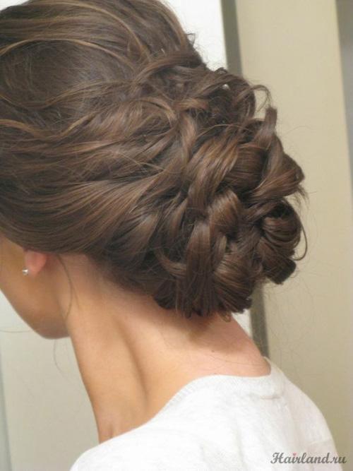 Прически с длинными волосами на основе плетения