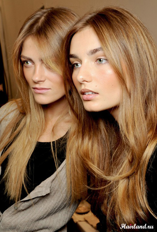 Медовый цвет волос - модный цвет волос 2012