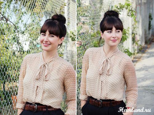 МОЙ БЛОГ: www.stileonika.ru Ролик с алгоритмом, как самой себе сделать красивый и очень .  Как сделать пучок из волос...