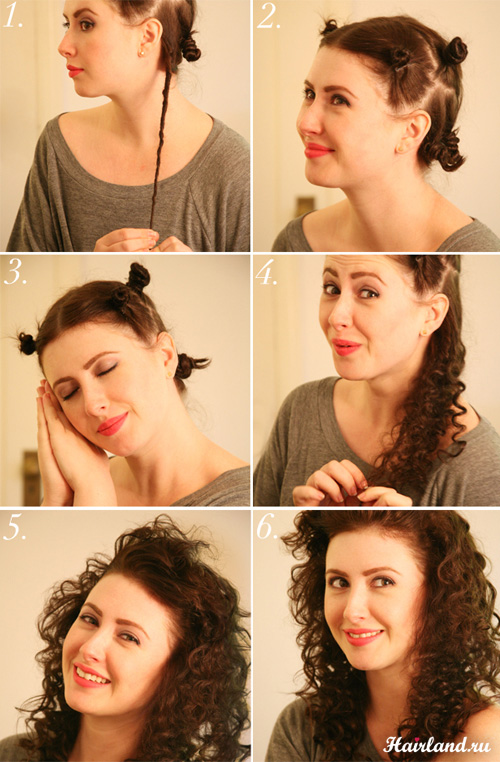 Как завить волосы при помощи жгутов. Прическа в стиле 80-х годов