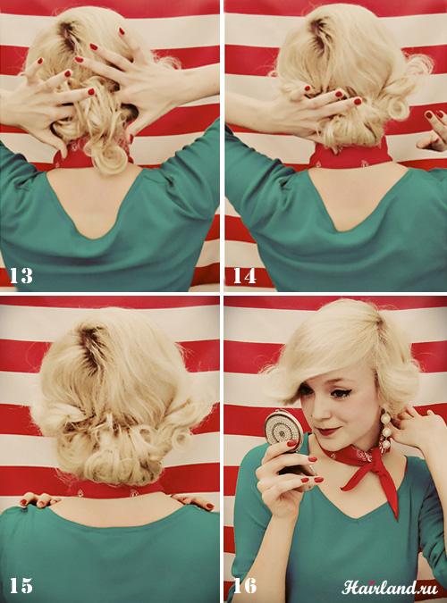 Как делать прически в стиле ретро своими руками фото