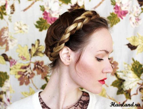 Как сделать косу вокруг головы своими руками фото