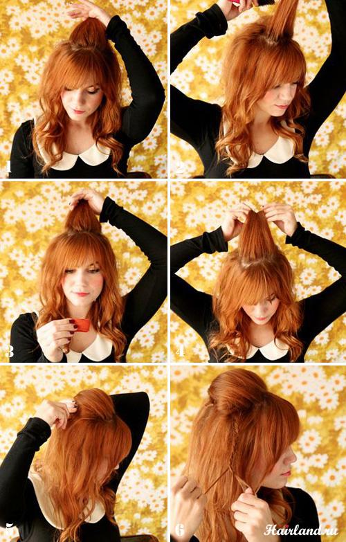 Как сделать повседневную прическу для длинных волос поэтапно фото