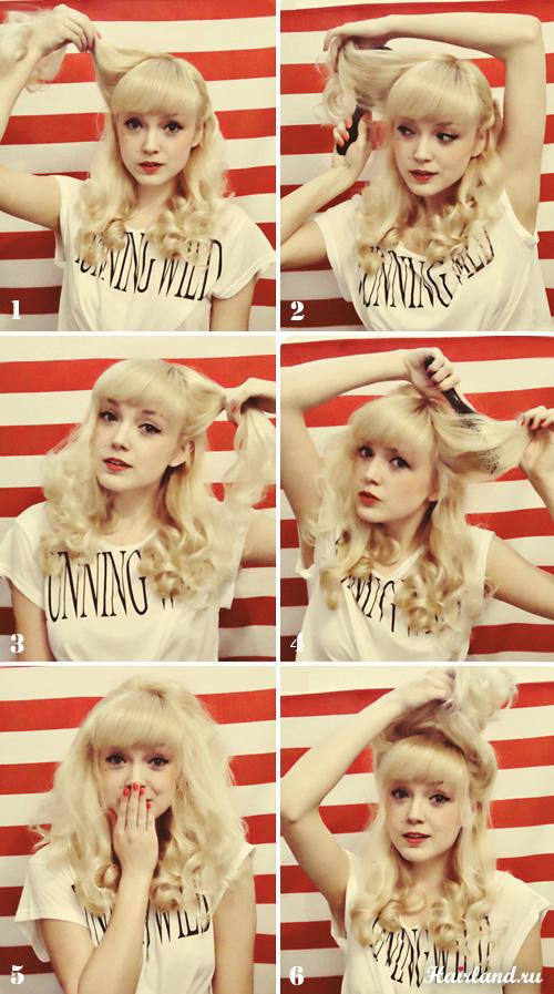 Как сделать прическу в стиле pin-up для длинных волос своими руками