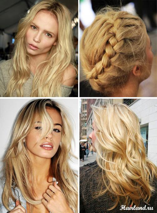 Светло пшеничный цвет волос