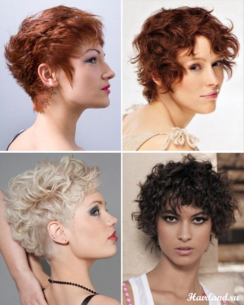 Стрижки для коротких вьющихся волос фото