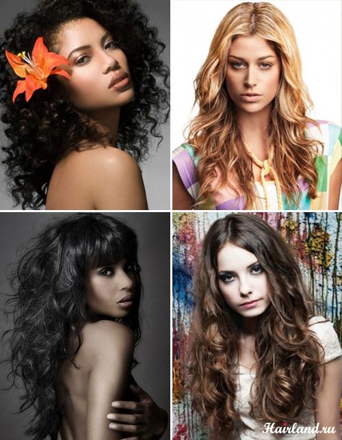 Стрижки для длинных вьющихся волос фото