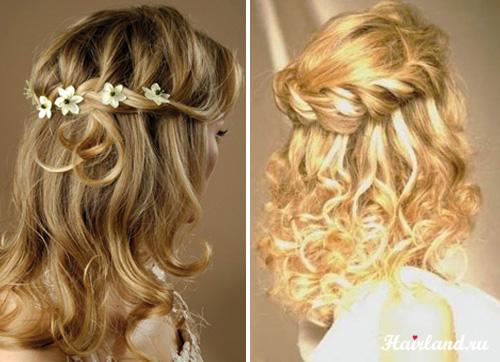 Как сделать косу на средние волосы фото 221