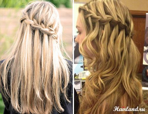 Прически с плетением на средние волосы своими
