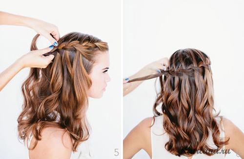 Коса водопад плетение косы