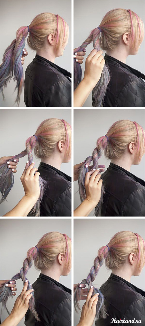 Как сделать жгутики на волосах 803